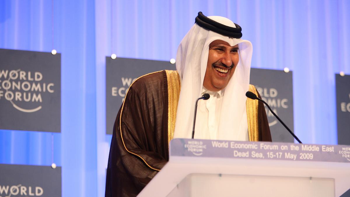 El jeque de Qatar Hamad Al Thani.