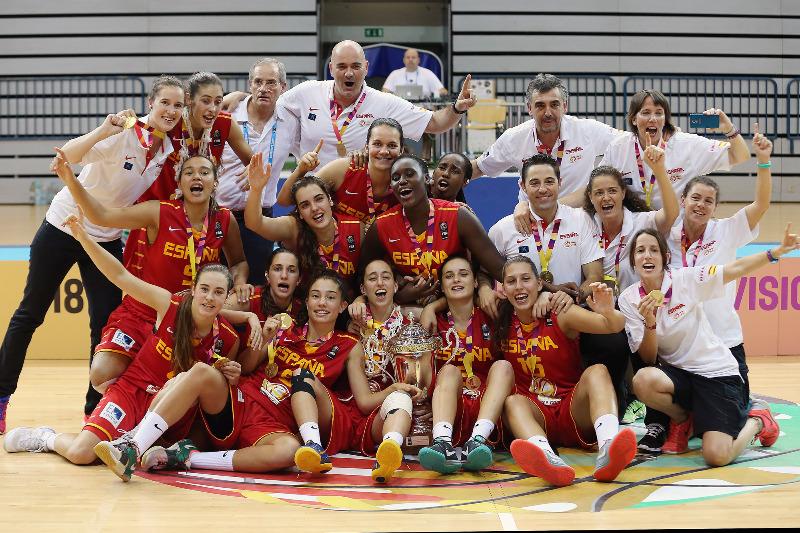 La selección española femenina Sub18 se ha proclamado campeona de Europa en su categoría (Foto: FEB)