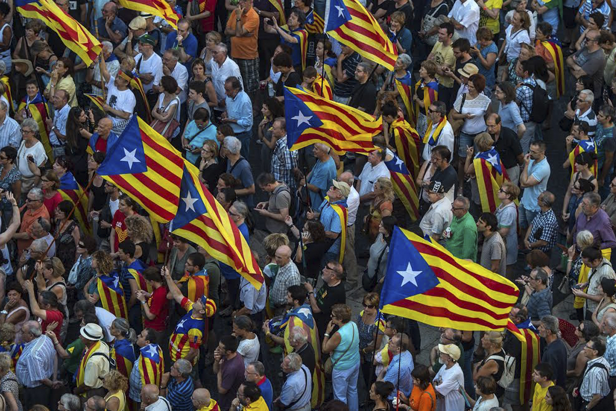 Independentistas catalanes (Foto: Getty).
