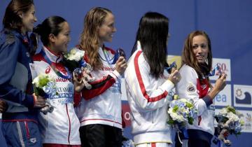 Jessica Vall logró un bronce, compartido con otras dos nadadoras, en la única medalla española en las carreras.