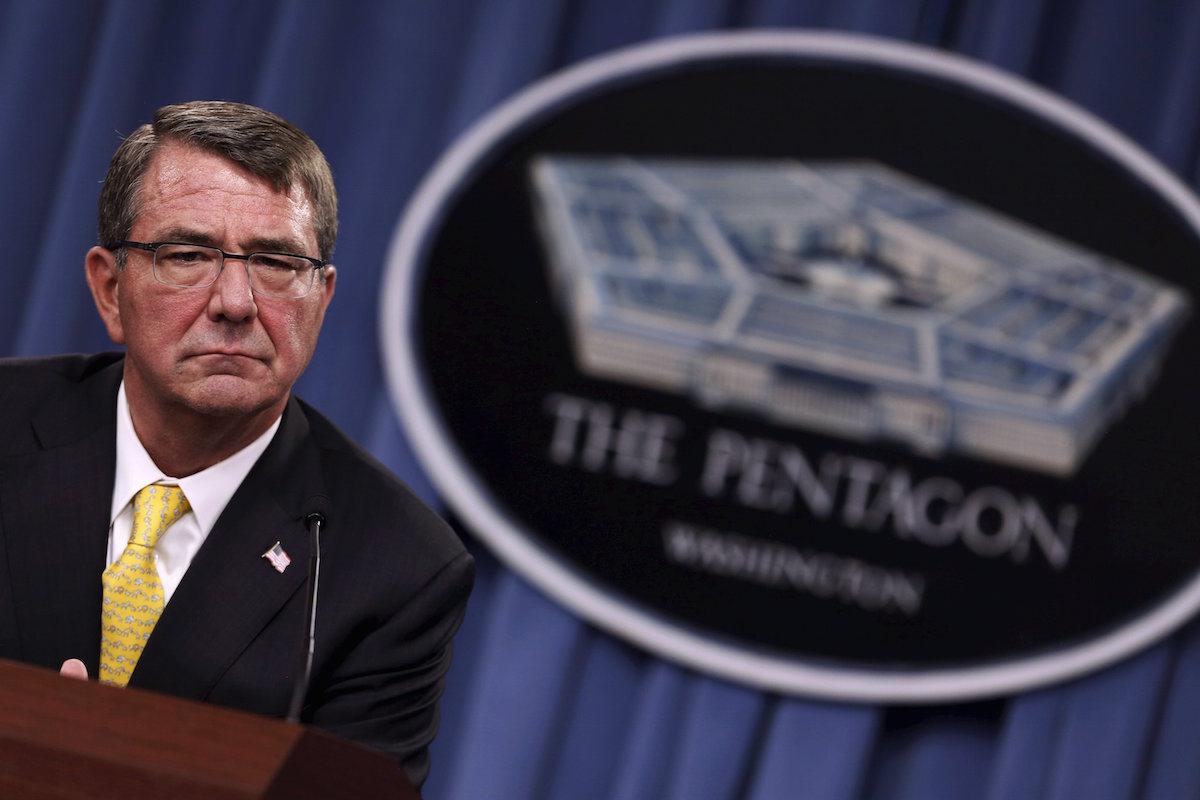 El secretario de defensa, Ash Carter, en el Pentágono (REUTERS)