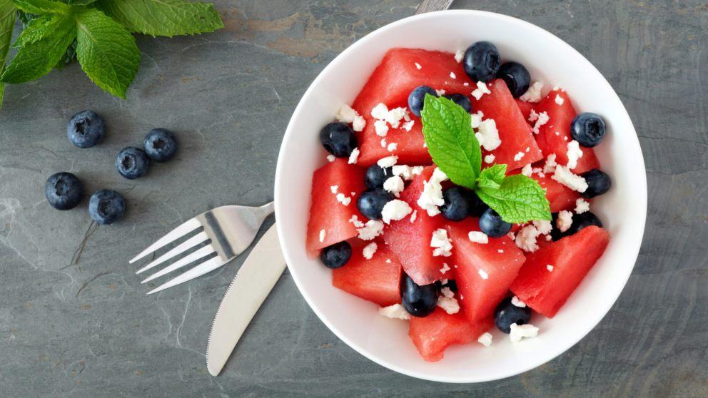 Receta de Ensalada diurética de frutas con sandía