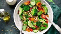 Receta de Ensalada de lentejas con salteado de verduras