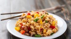 Receta de arroz crujiente con verduras