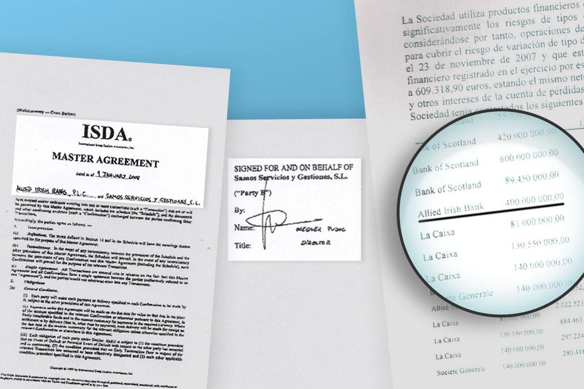 Documentos a los que ha tenido acceso Okdiario que muestran la operación con el Allied Irish Bank