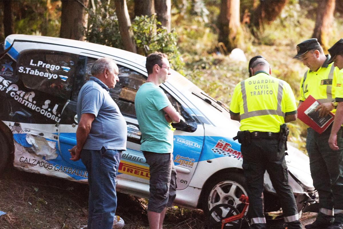 Este ha sido el accidente de rally más grave en la historia de la competición española (Foto: EFE)