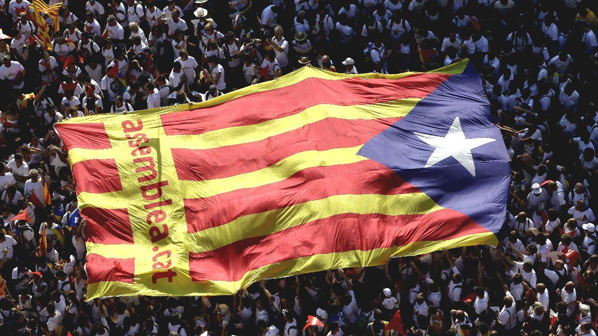 Manifestación independentista en Cataluña (Foto: Efe).