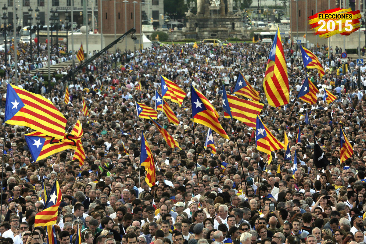 Acto de fin de campaña de 'Junts pel Sí'. (Foto: EFE)