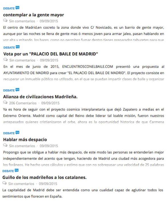 """Iniciativas Ciudadanas de debate entre las """"más activas"""""""