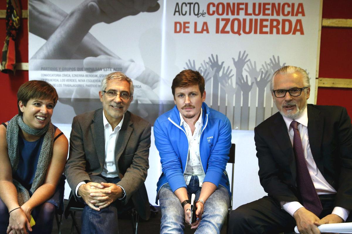 Acto de Confluencia por la Izquierda. (Foto: EFE)