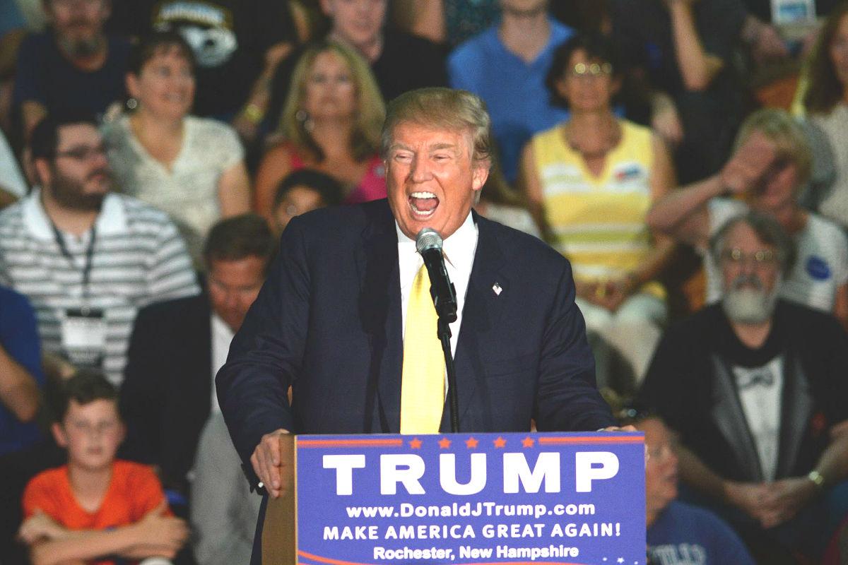 Donald Trump en un mitin en Rochester (Foto: Getty)