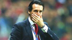 Unai Emery, con cara de preocupación durante un partido del Sevilla (Getty)