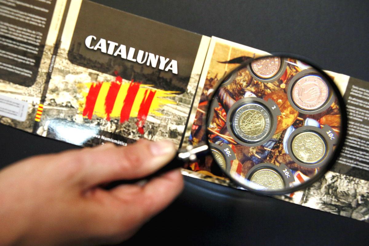 La secesión obligaría a la Generalitat a acuñar nueva moneda tras su expulsión de la eurozona. (Foto: Getty)