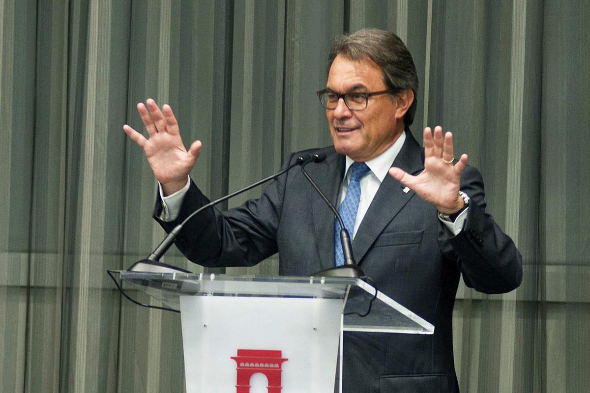 Artur Mas durante un discurso (EFE)