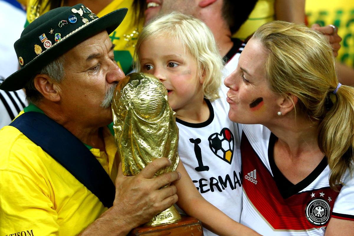 El Gaúcho Da Copa durante el Brasil-Alemania del Mundial 2014 (Getty)