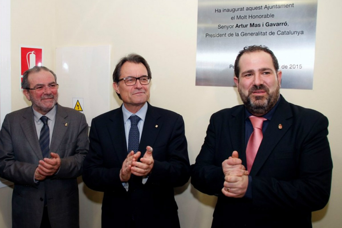 Joan Reñé junto a Artur Mas en un acto de inauguración (EFE)