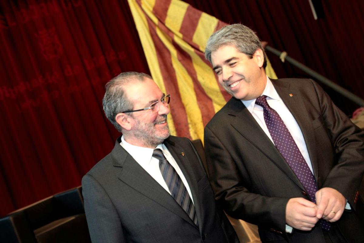 Joan Reñé i Huguet junto al ex conseller de Presidencia de la Generalitat, Francesc Homs (EFE)