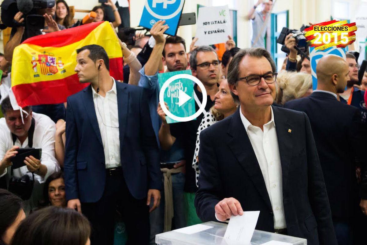 Artur Mas votando en las elecciones catalanas. (Foto: Getty Images)