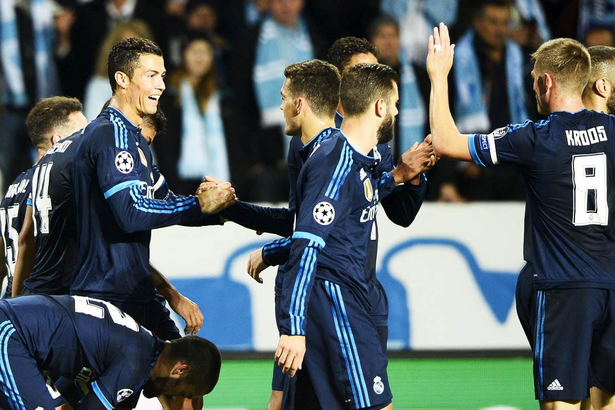 El Real Madrid salió triunfador de Suecia con un Cristiano en plan leyenda (Foto: EFE)