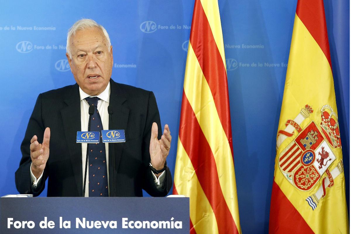 El ministro de Exteriores, Manuel García Margallo en una rueda de prensa.