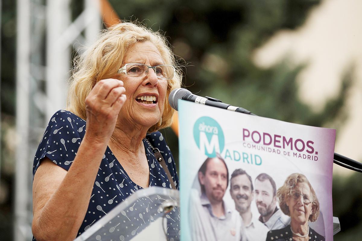 La alcaldesa de Madrid, Manuela Carmena, durante la campaña electoral del 22M  (Pablo Blázquez)
