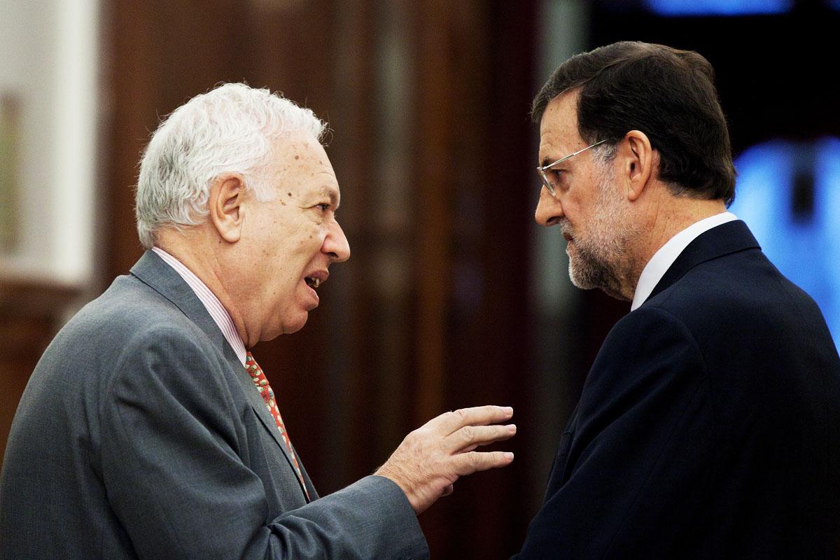 El ministro José Manuel García Margallo y el presidente Mariano Rajoy (Foto: Getty)
