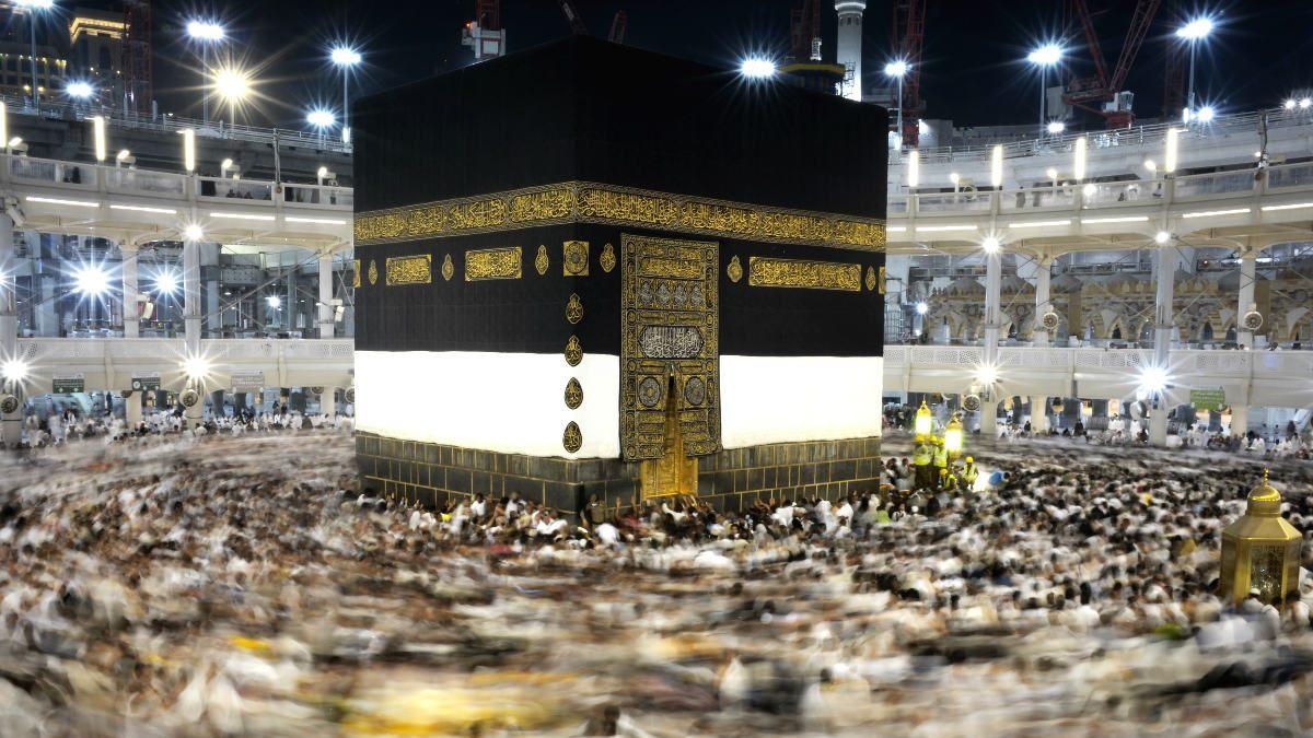 Peregrinos en la Gran Mezquita de La Meca.