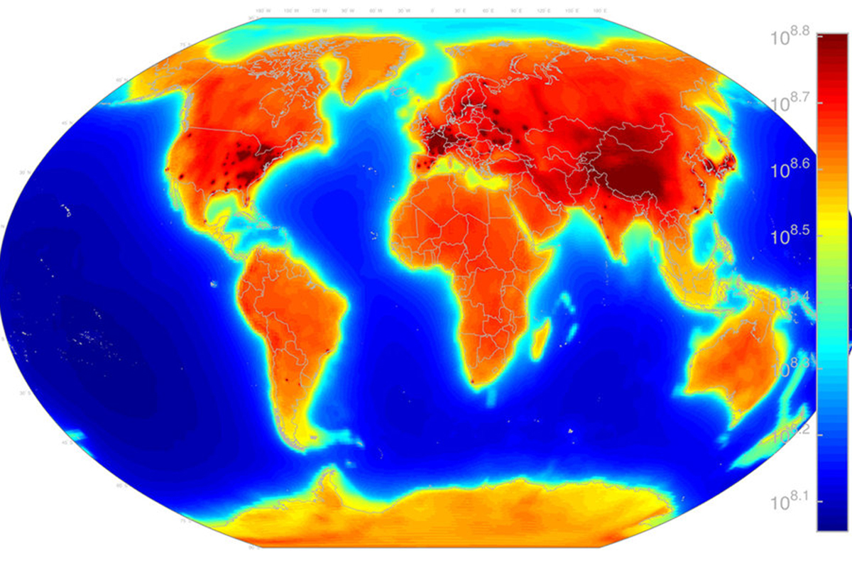 Así es el mapa de la radiación mundial (Cartografía: NGA)
