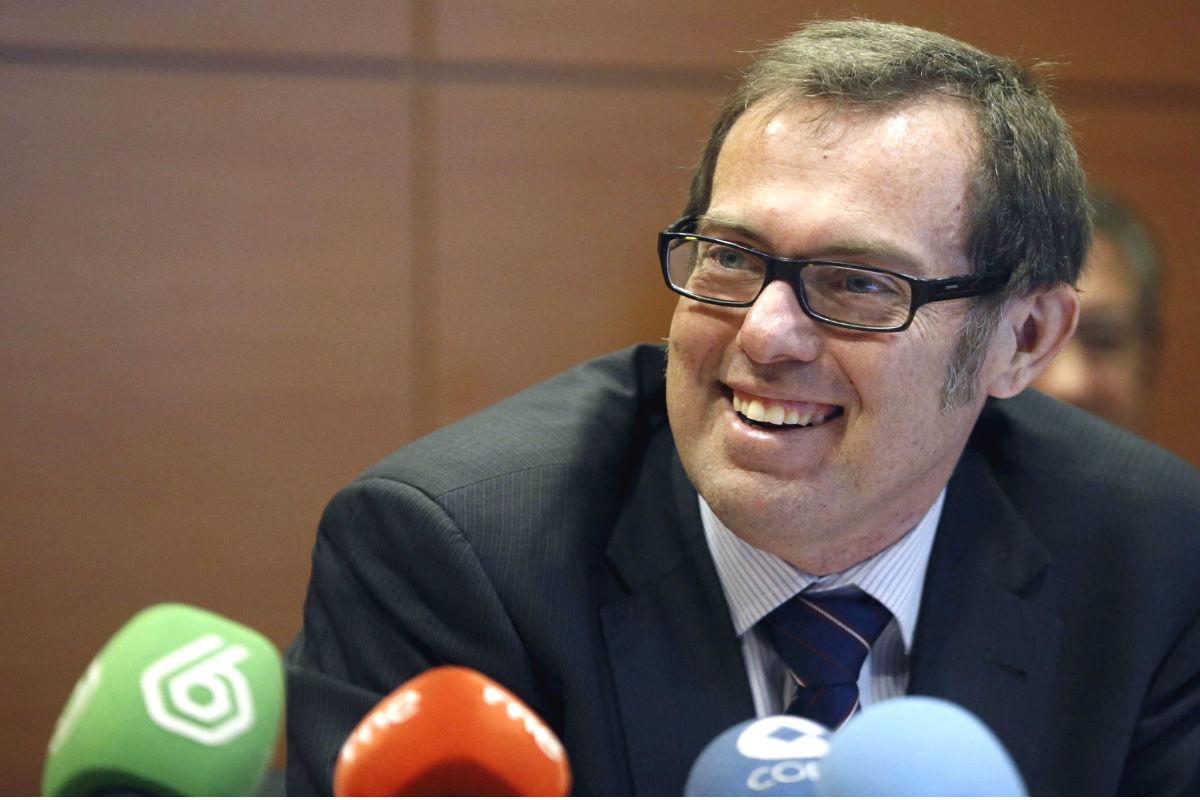 El concejal madrileño Ramsés Pérez Boga en una rueda de prensa