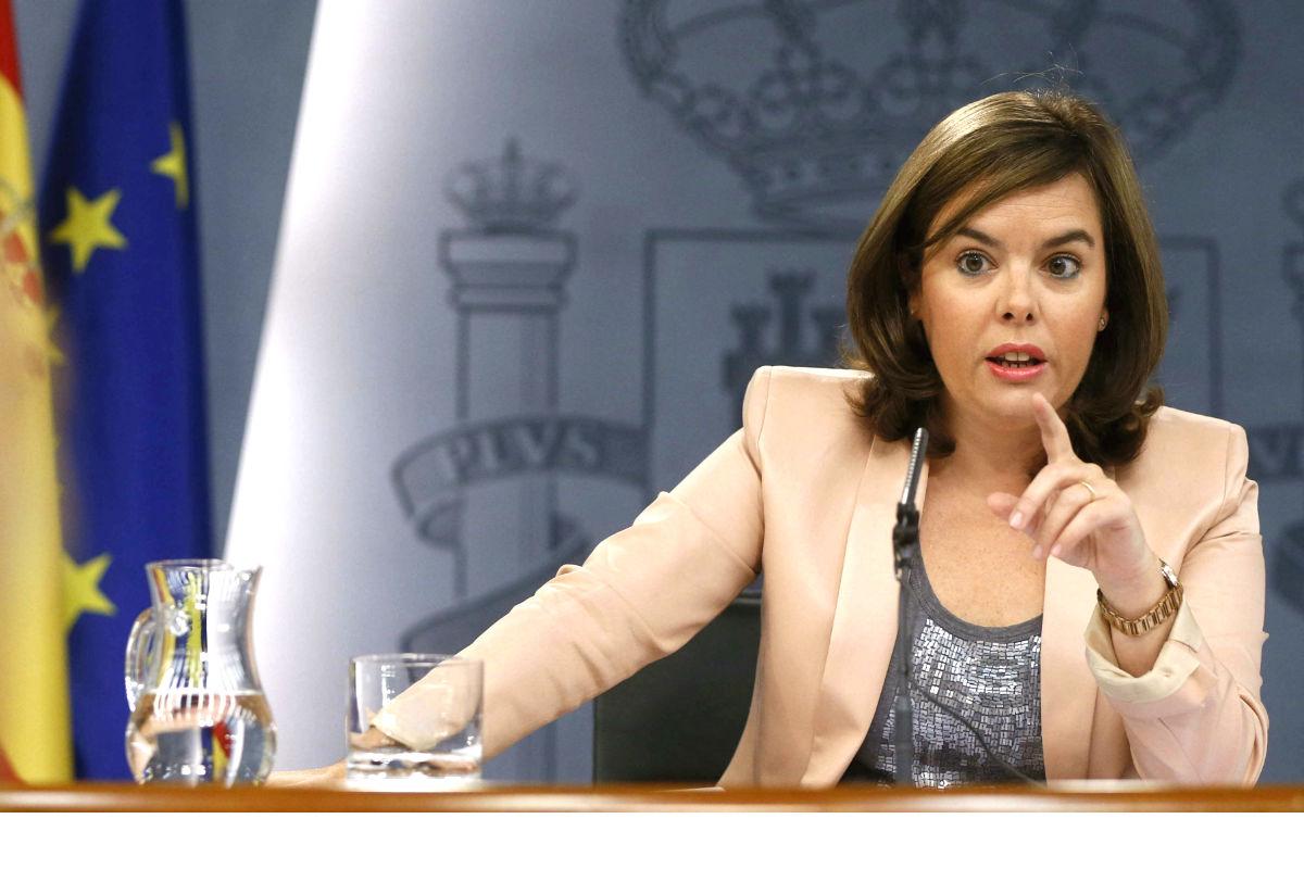 La vicepresidenta Soraya Sáenz de Santamaría (Foto: EFE)