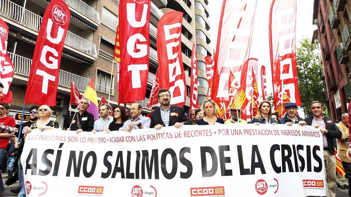 Manifestación de UGT y CC.OO.