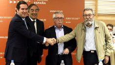 CEOE, Cepyme, UGT y CCOO. (Foto: EFE)