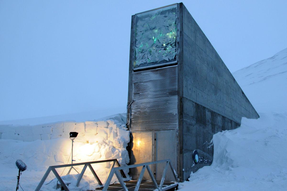 Almacén de semillas de Svalbard, Noruega.