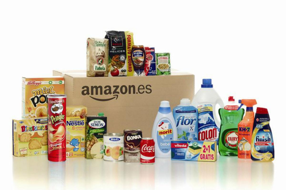 Amazon vende alimentos no perecederos y productos de limpieza.