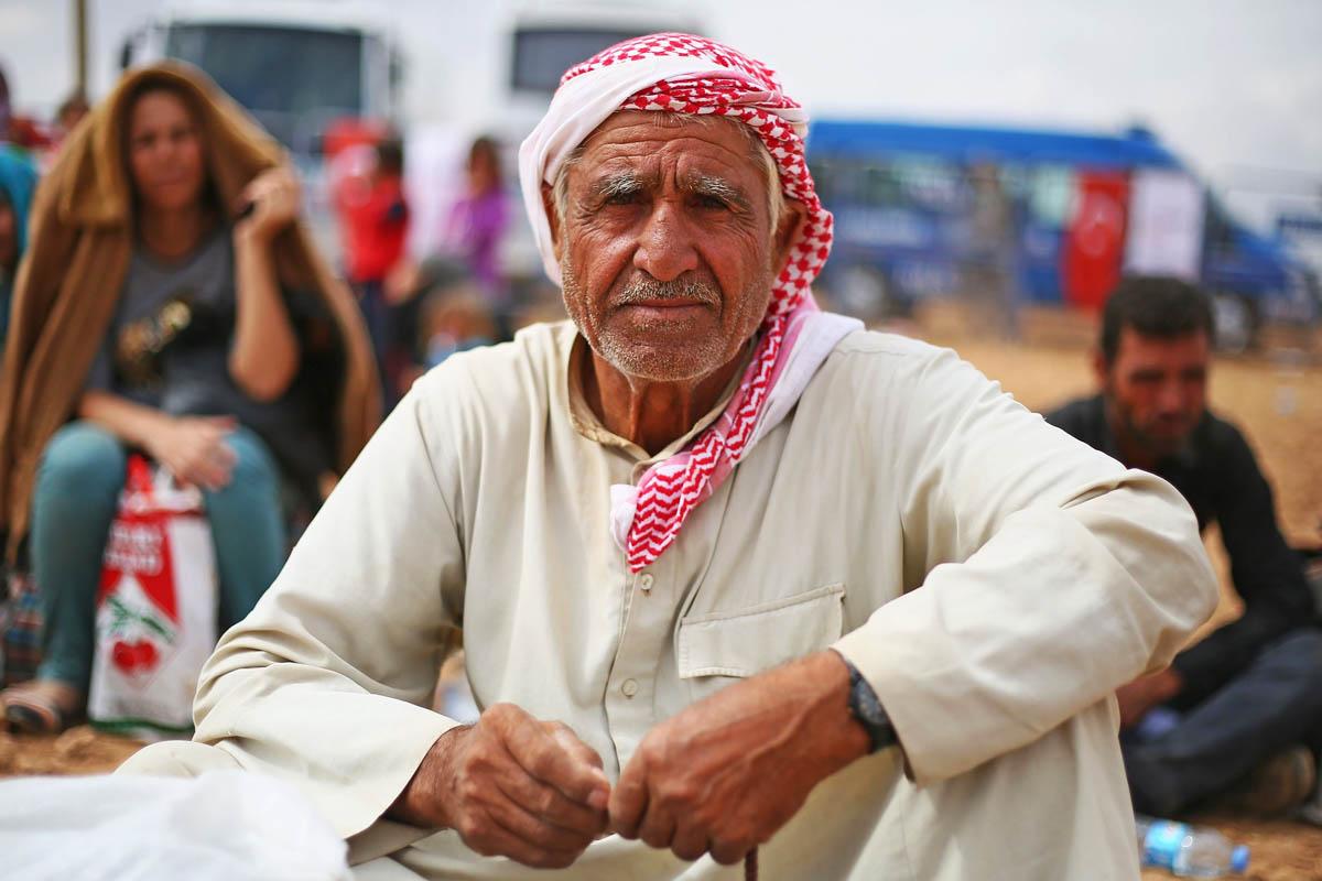Anciano sirio en un campo de refugiados. (Foto: Getty)