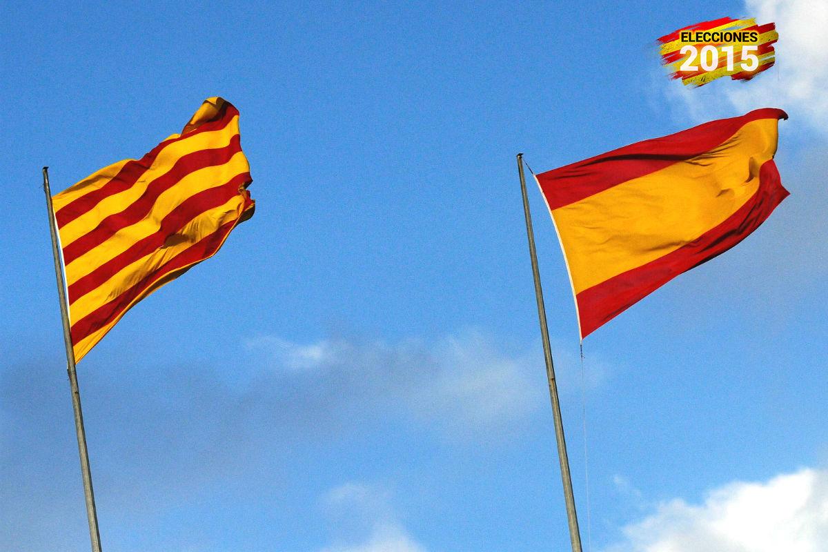 Banderas de Cataluña y España (Foto: GETTY).