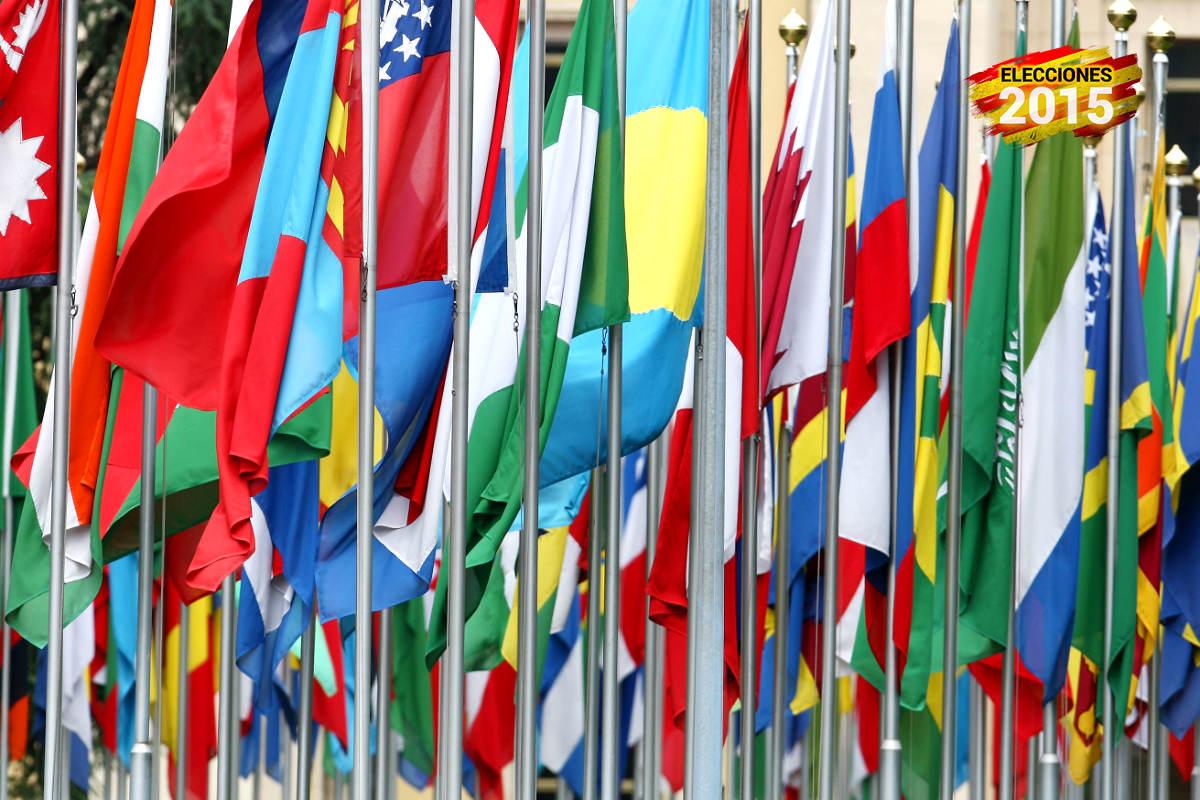 Banderas en la oficina de la ONU en Ginebra (Foto: GUETTY).