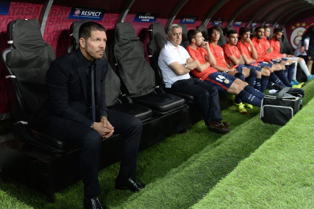 Cholo Simeone en el banquillo del Atlético de Madrid