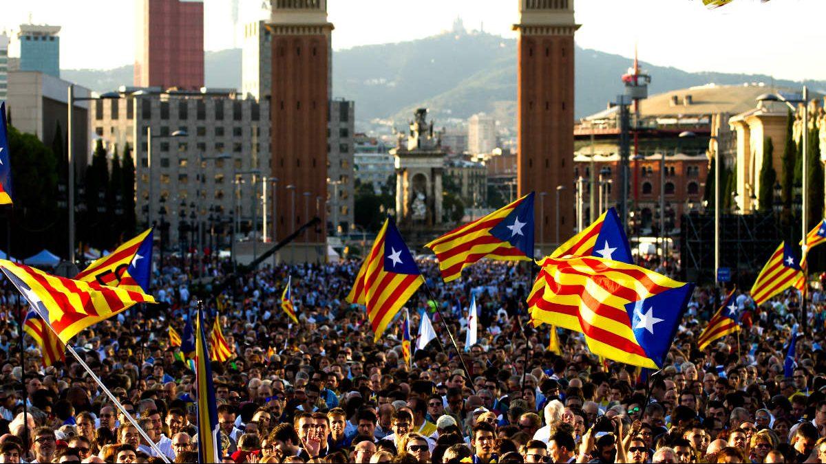 Imagen de una manifestación independentista (Foto: EFE).