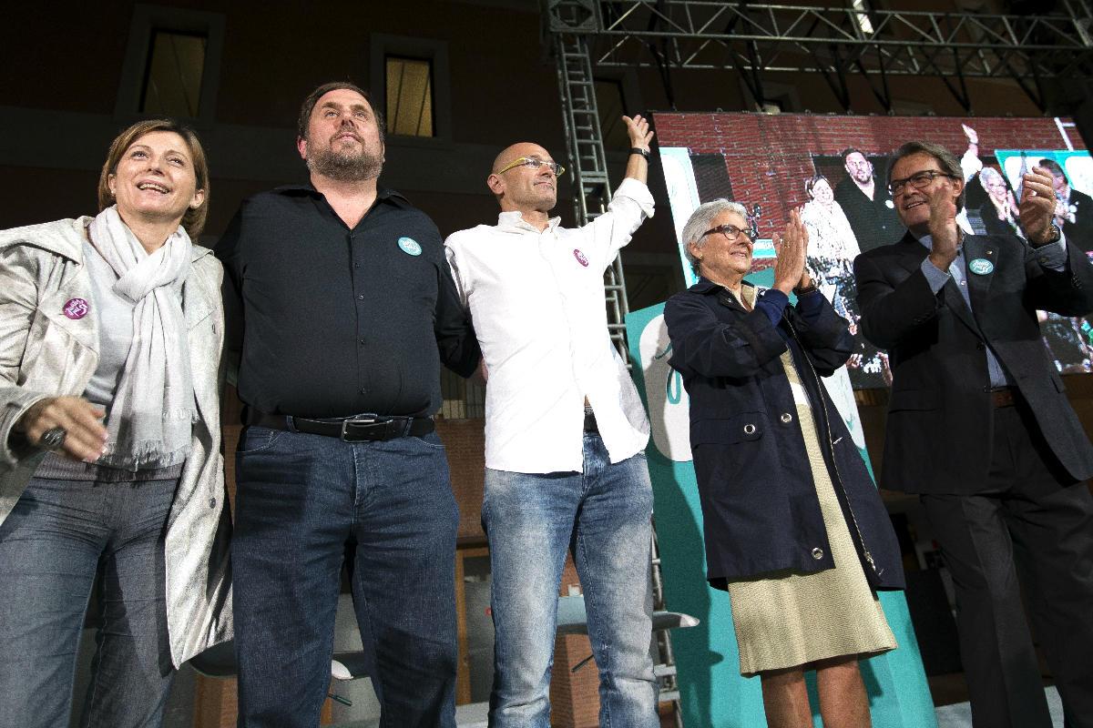 Acto de campaña de Junts pel sí (Getty)