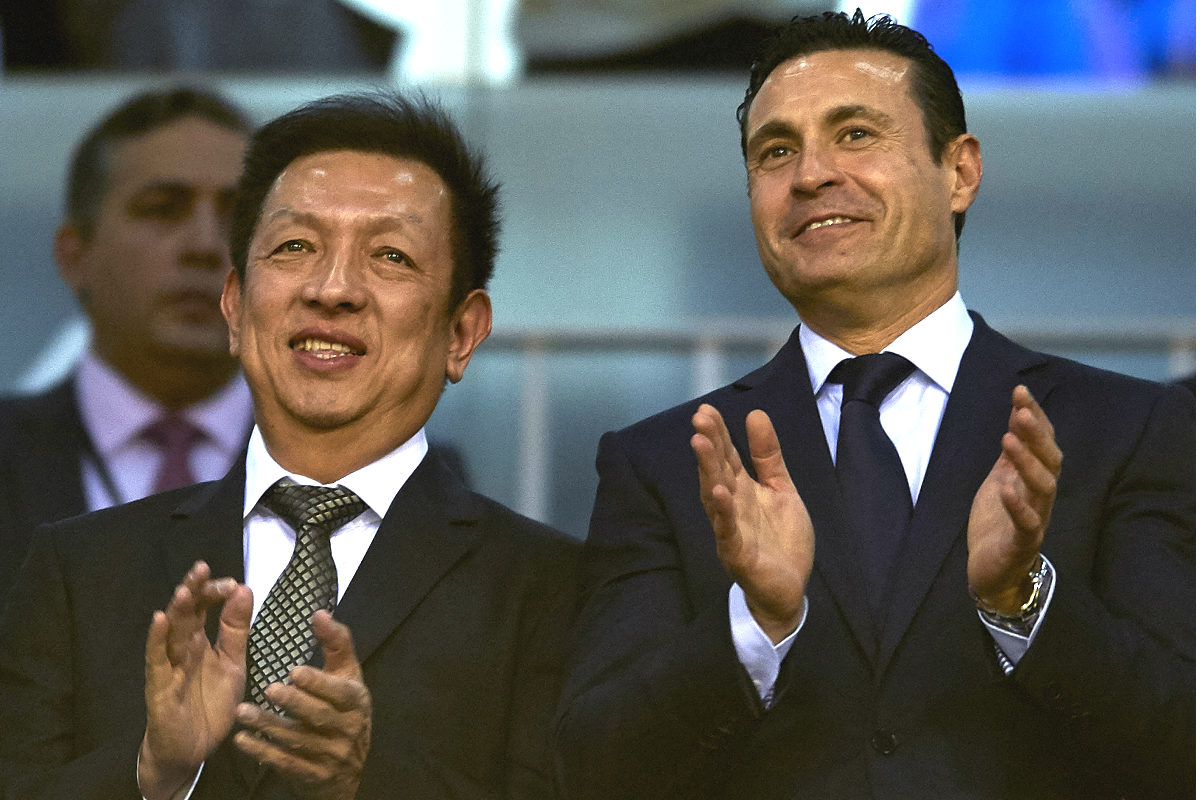 Peter Lim y Amadeo Salvo. (Getty)