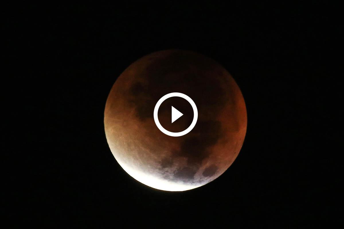 Vídeo del eclipse lunar de la pasada madrugada (Foto: Getty)