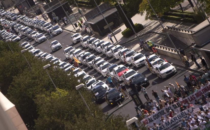 Manifestación de taxistas.