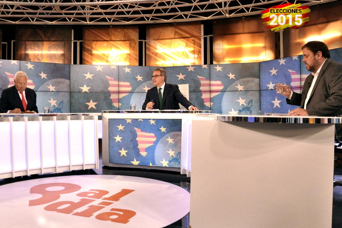 García-Margallo en el debate con Junqueras (Foto: Efe)