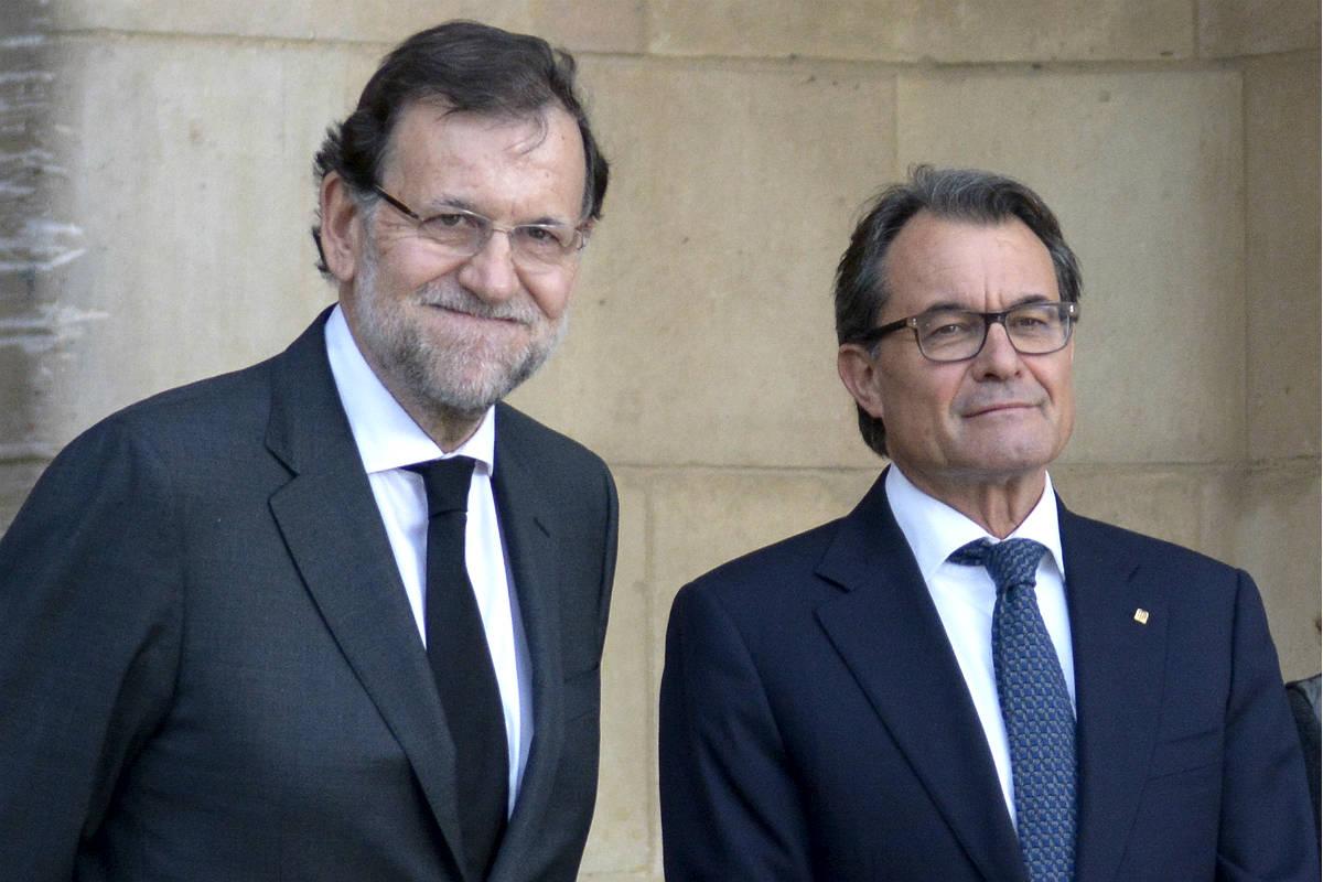 Mariano Rajoy con Artur Mas (Foto: GETTY).