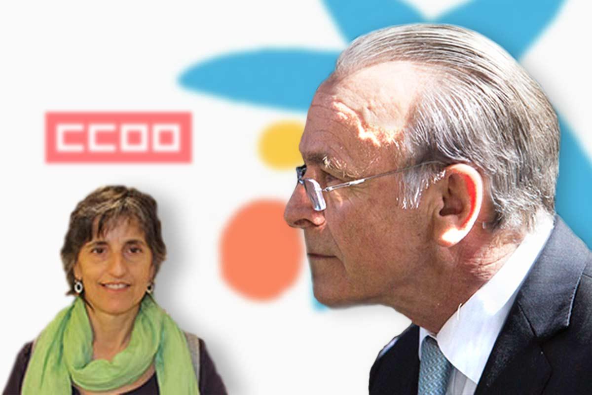 Maria Dolors Llobet María e Isidre Fainé.