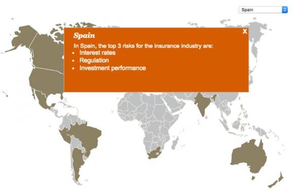 Riesgos para las aseguradoras en España según PwC.