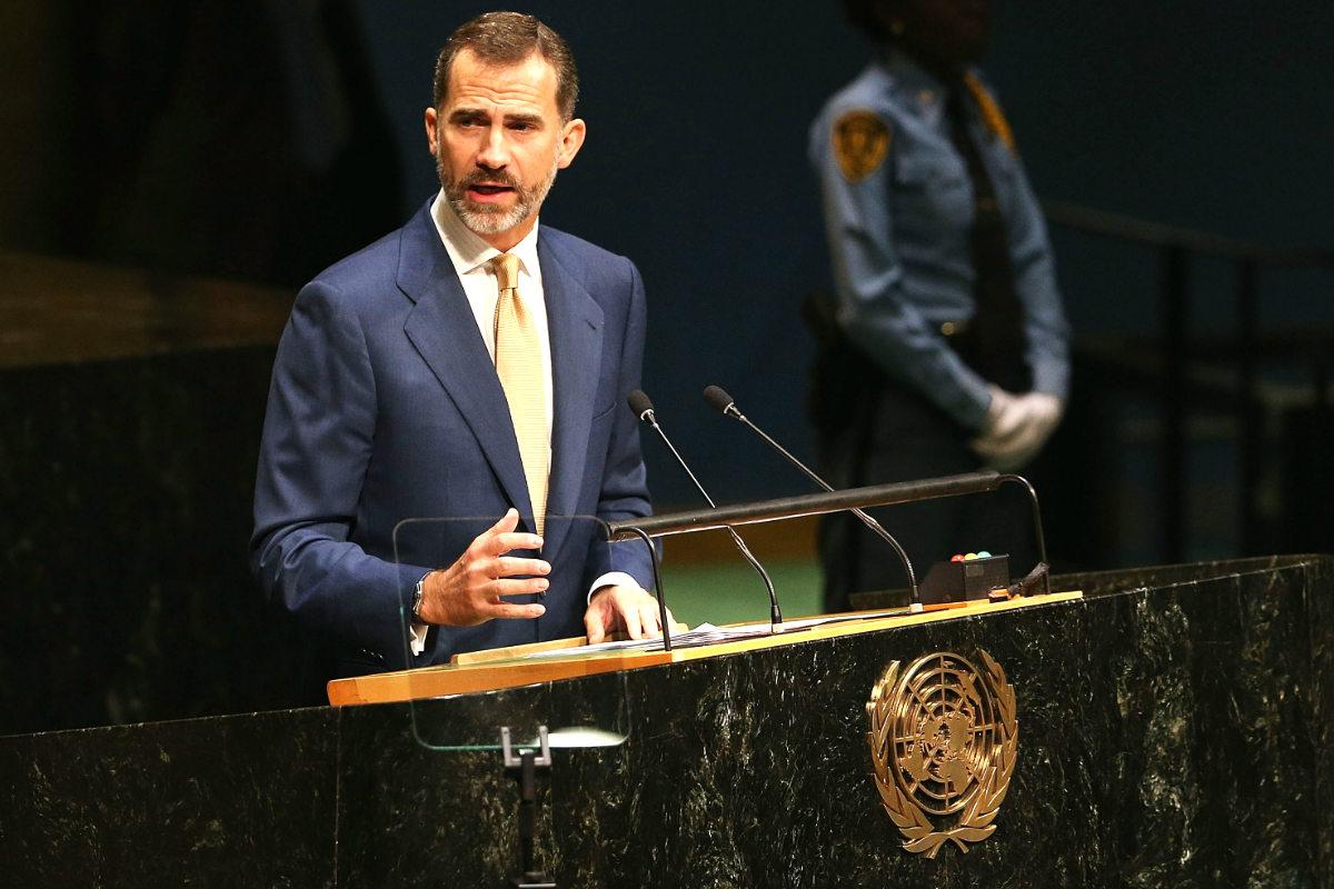 Felipe VI ante la Asamblea de la ONU. (Foto: Getty)