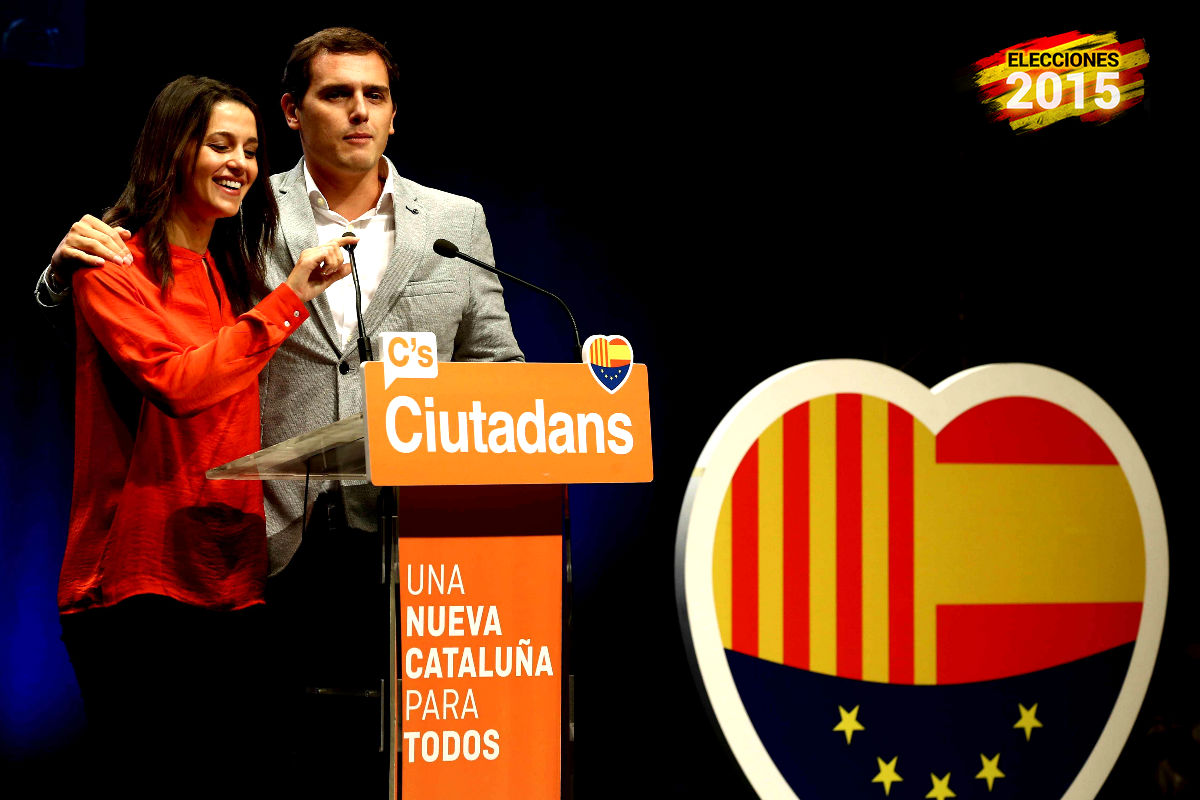 Inés Arrimadas y Albert Rivera en un acto de Ciudadanos (Foto: Efe).