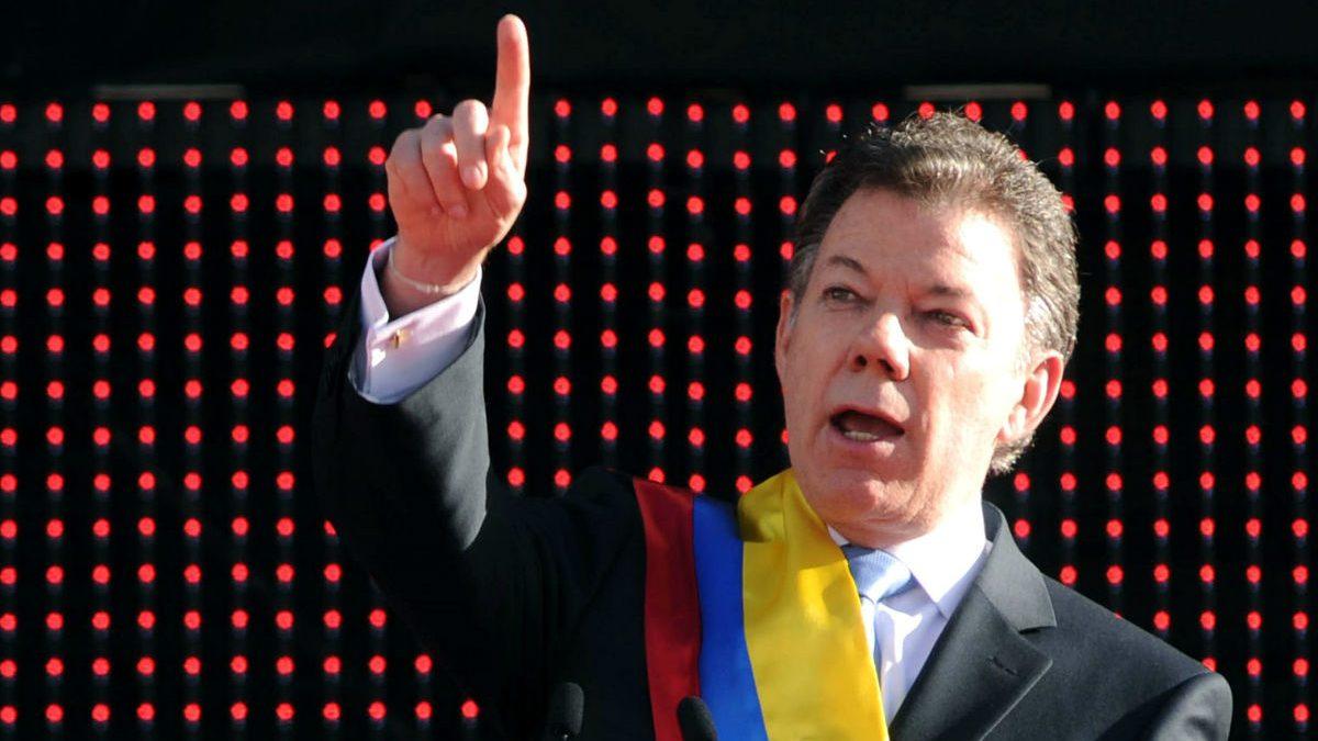 José Manuel Santos, presidente del Colombia.